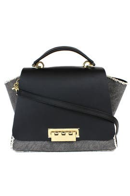 Black Denim Eartha Handbag by ZAC Zac Posen Handbags