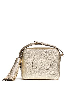 Metallic Smiley Crossbody Bag by Anya Hindmarch