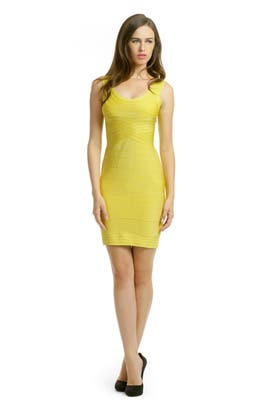 Hervé Léger - Lemon Lust Dress