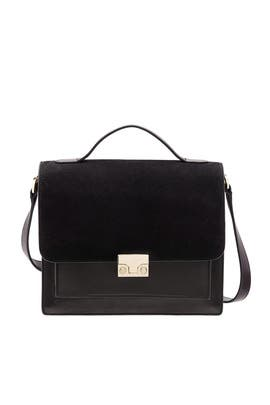 Black Minimal Rider Bag by Loeffler Randall