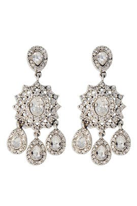 Nicole Miller Accessories - Silver Southern Plantation Earrings