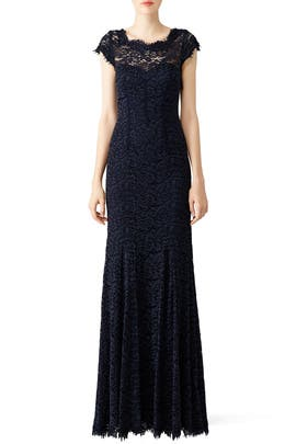 Glamorous in Lace Gown by ML Monique Lhuillier