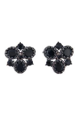 Badgley Mischka Jewelry - Black Crystal Cluster Earrings