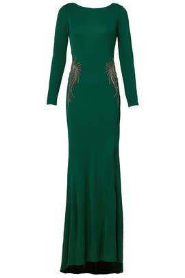 Kelly Green Gown by Badgley Mischka