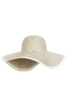 White Floppy Hat by Echo Accessories