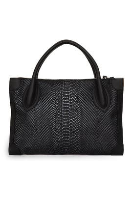 Noir Snake Framed Satchel by Foley + Corinna
