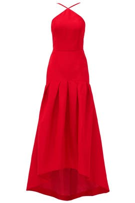 Red Trumpet Gown by Jill Jill Stuart