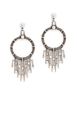 Silver Mila Earrings by Dannijo