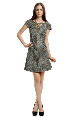 Shoshanna - Basketweave Cap Sleeve Dress