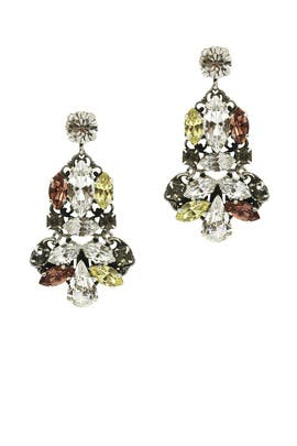 Multicolored Chandelier Earrings by Anton Heunis