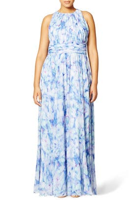 Blue Blur Maxi Dress by Badgley Mischka