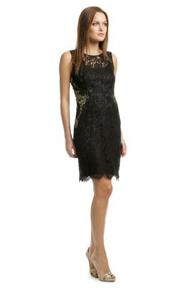 Gold Infused Lace Sheath by Elie Tahari
