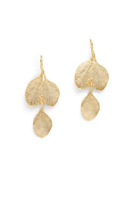Golden Leaf Earrings by Kenneth Jay Lane