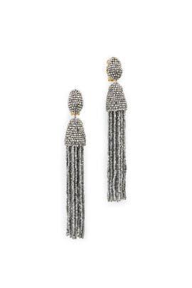 Beaded Tassel Earrings by Oscar de la Renta