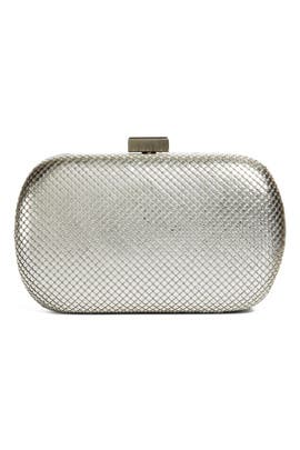 Whiting & Davis - Silver Lattice Clutch