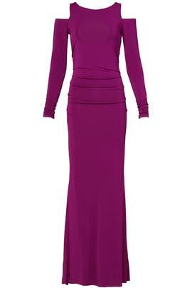 Plum Window Gown by Donna Karan New York
