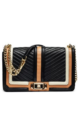 Black Stripe Love Crossbody by Rebecca Minkoff Handbags