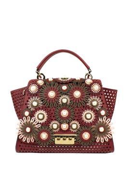 Merlot Eartha Soft Top Handle Bag by ZAC Zac Posen Handbags