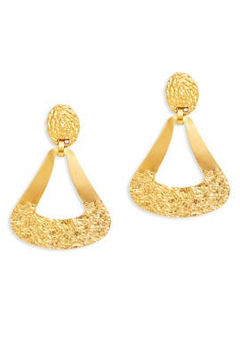 Hammered Out Earrings by Gerard Yosca