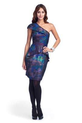 Lela Rose - Galaxy Tweed Dress