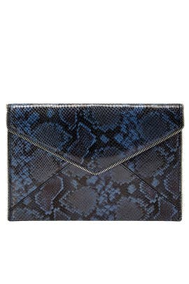 Blue Snake Printed Leo Clutch by Rebecca Minkoff Accessories