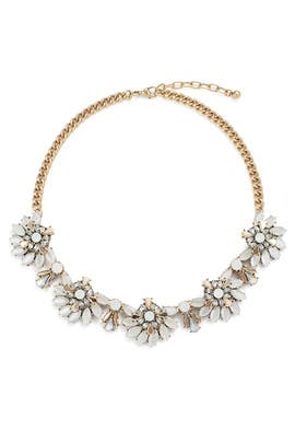 Iridescent Crystal Bloom Necklace by Slate & Willow Accessories