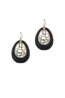 Brutalist Drop Earrings by Alexis Bittar