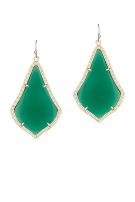 Green Alexandra Earrings by Kendra Scott