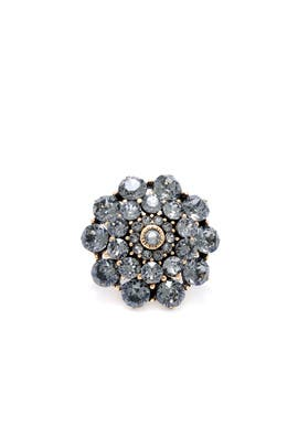 Black Diamond Ring by Oscar de la Renta