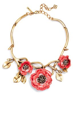 Painted Flower Necklace by Oscar de la Renta