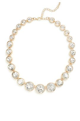 Crystal Bezel Necklace by Slate & Willow Accessories