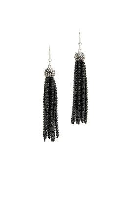 Black Diamond Tassel Earrings  by Turkish Delight