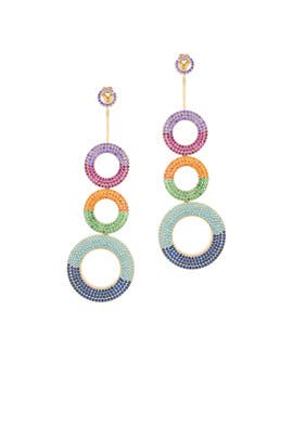 Grommet Rainbow Earrings by Joanna Laura Constantine
