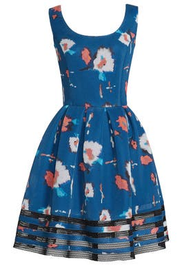Blue Bloom Mesh Dress by Sachin & Babi