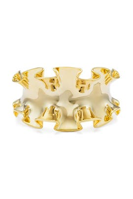 Gold Ruffle Cuff by Sarah Magid