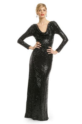 Badgley Mischka Sequin Remix Gown