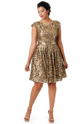 Badgley Mischka - Gilded Flowers Dress