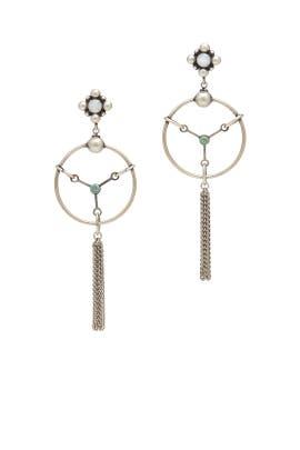 Silver Daschuri Earrings by Dannijo