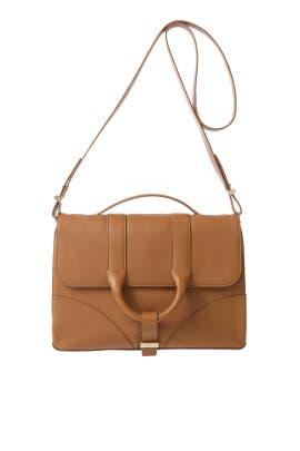 Brown Hanne Messenger Bag by Jason Wu Accessories