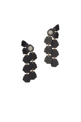 Black Petal Drop Earrings by Lele Sadoughi
