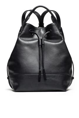 Black Leather Izzy Backpack by Opening Ceremony Accessories