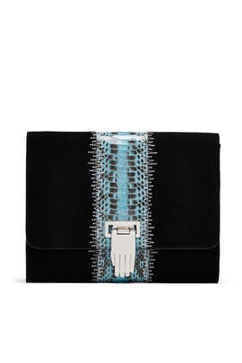 Patchwork Nokki Clutch by Opening Ceremony Accessories