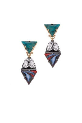 Geometric Chandelier Earrings by Anton Heunis