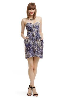 Shoshanna - Blue Leopard Dress