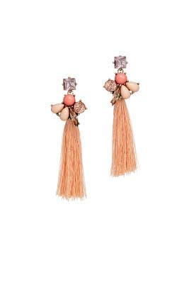 Pink Stone Tassel Earrings by Slate & Willow Accessories
