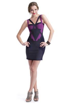 Hervé Léger - Duplicity Contrast Dress