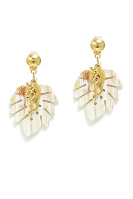 Jungle Horn Earrings by Oscar de la Renta