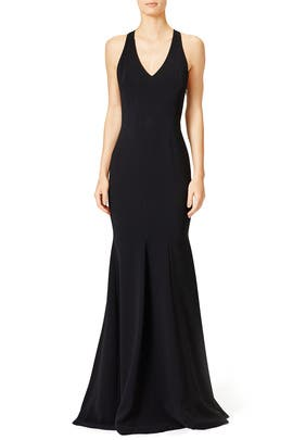 Black Matte Dress by Theia