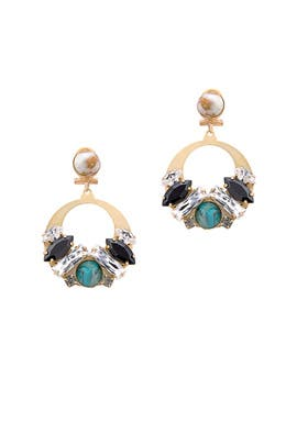 Cluster Hoop Earrings by Anton Heunis
