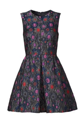 Charcoal Jacquard Dress by Cynthia Rowley